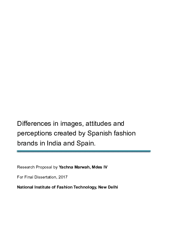 PDF) Differences in images, attitudes and perceptions