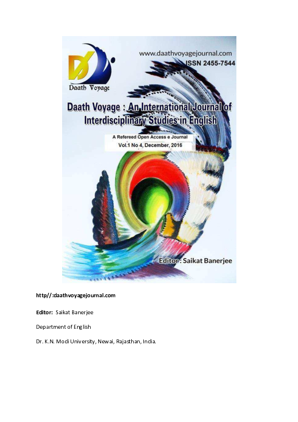 PDF) Vol 1 No 4 December 2016, Daath Voyage | Saikat Banerjee and