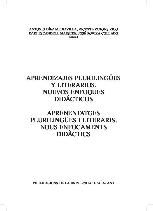 Pdf Seqüència Didàctica Xàtiva En La Literatura La Xàtiva D Estellés Jordi Oviedo Seguer Academia Edu