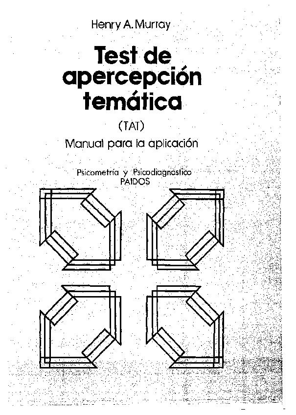 (PDF) apercepclon temática (TAT) Manual para la aplicación