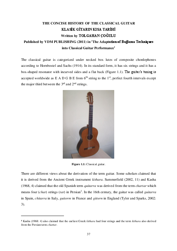 The Modern Construction of a Spanish Guitar