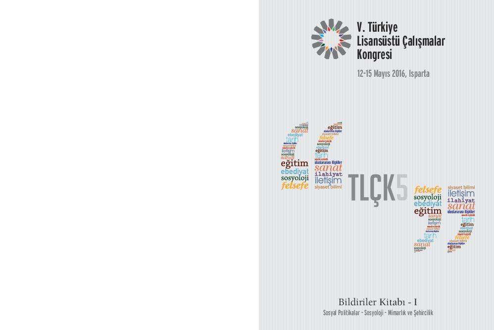 V Türkiye Lisansüstü çalışmalar Kongresi Tlçk Bildiriler Kitabı