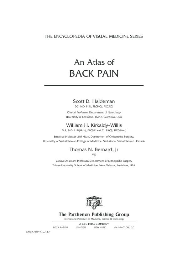 PDF) An Atlas of BACK PAIN THE ENCYCLOPEDIA OF VISUAL