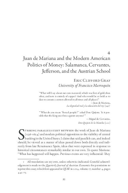 PDF) Juan de Mariana and the Modern American Politics of