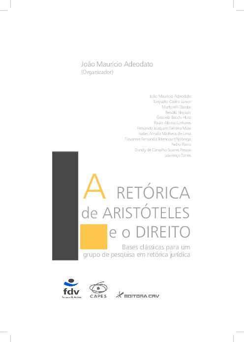(PDF) A RETÓRICA de ARISTÓTELES e o DIREITO Bases