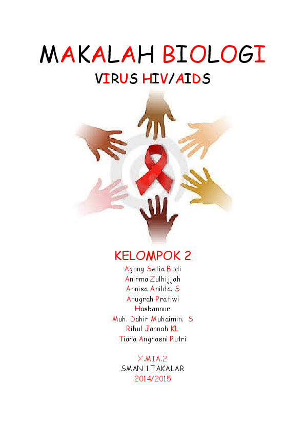 Doc Makalah Biologi Virus Hivaids Kelompok 2 Kata