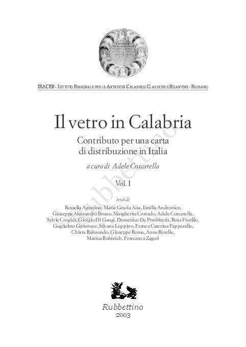 964d1e33ca PDF) Il vetro in Calabria IRACEB -ISTITUTO REGIONALE PER LE ...