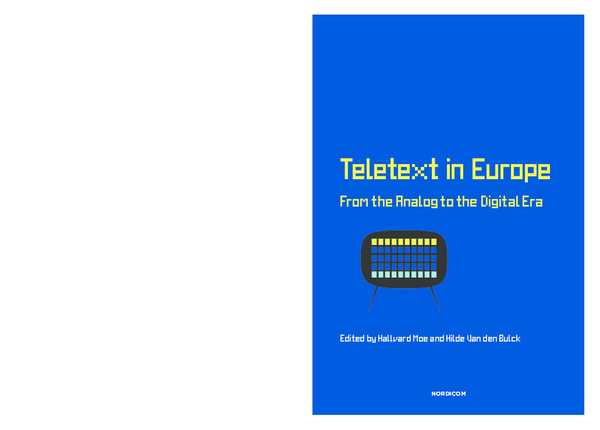 PDF) Chapter 7 Super Teletext  A Social Shaping of Teletext as