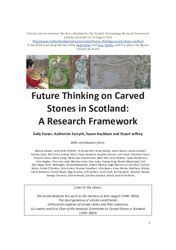78f46298a48f PDF) Future Thinking on Carved Stones in Scotland: A Research ...