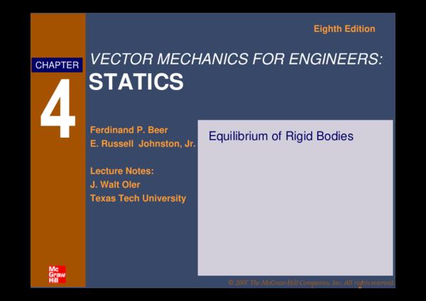 PDF) STATICS Eighth Edition Equilibrium of Rigid Bodies | Mark