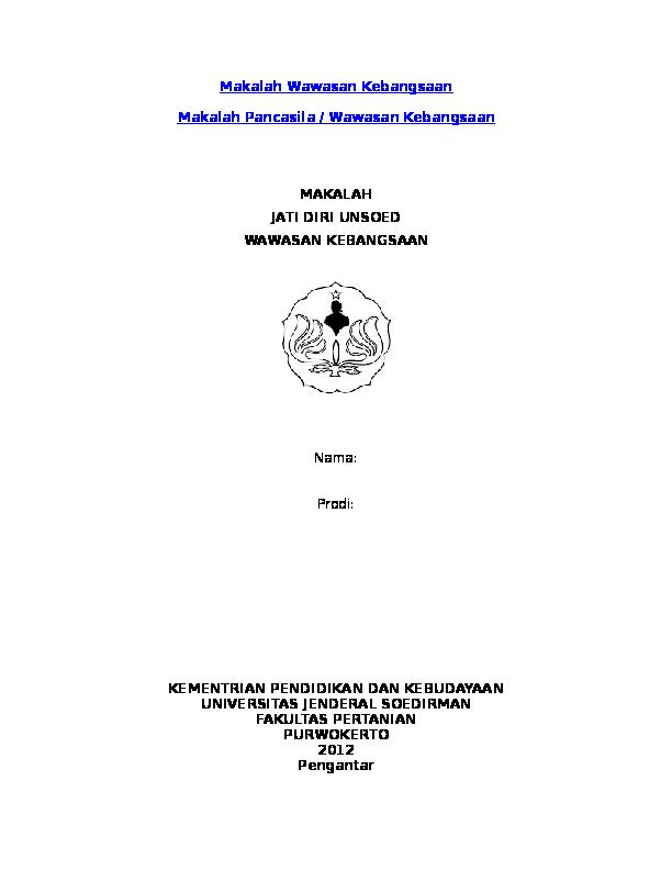 Doc Contoh Makalah Wawasan Kebangsaan Rizky Rizky Academia Edu