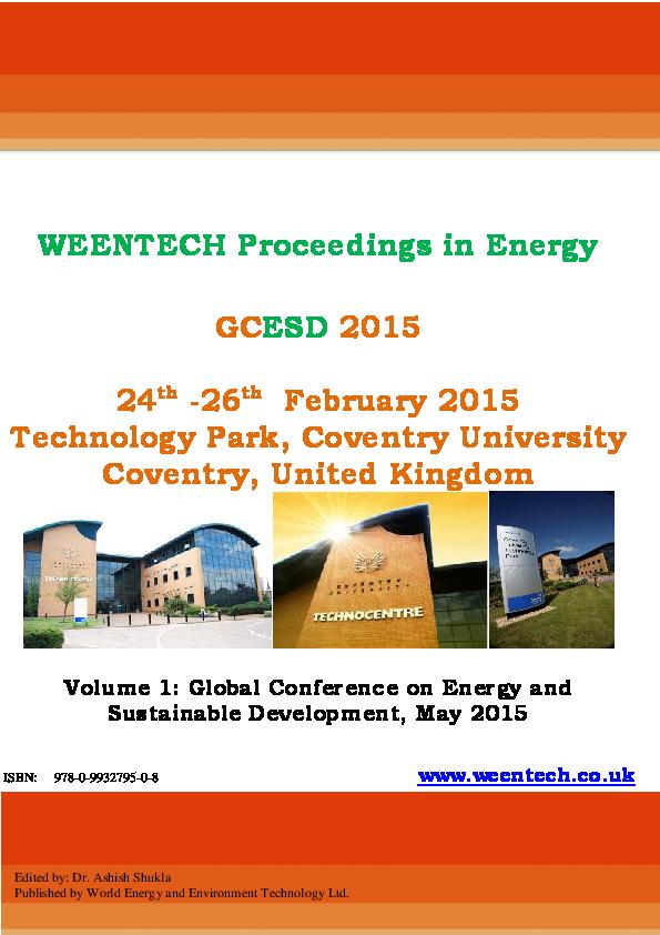 PDF) WEENTECH Proceedings in Energy   Hafiz Muhammad Ali