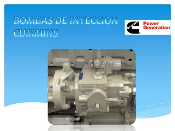 Tipos de bombas de inyección diesel pdf