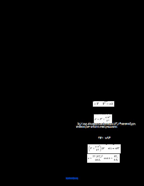 PDF) Critical State Behavior of Van der Waal gases