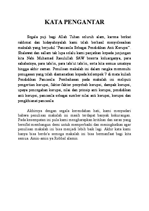 Doc Makalah Pancasila Sebagai Pendidikan Anti Korupsi Kelompok 7 Pend Pancasila Docx Muhammad Qais Academia Edu
