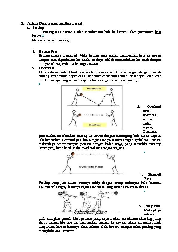 Doc Teknik Basket 1 Rahma Tia Academia Edu