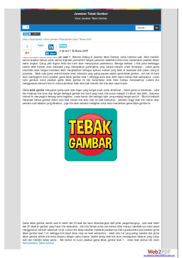 Pdf Kunci Jawaban Gametebak Gambar Level 1 Ahmad Suryanto Academia Edu