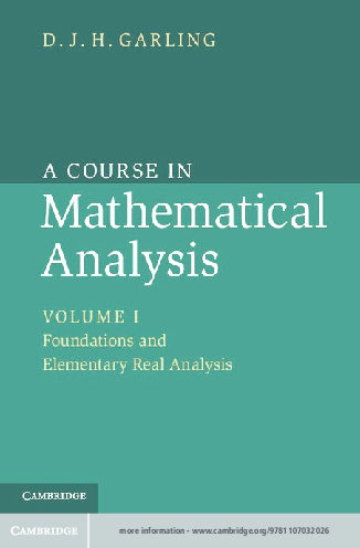 Pdf Garling A Course In Mathematical Analysis Marcleiton R Morais Academia Edu