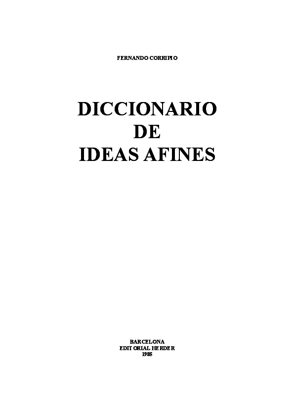 7e171a53443a DOC) Corripio Fernando - Diccionario De Ideas Afines