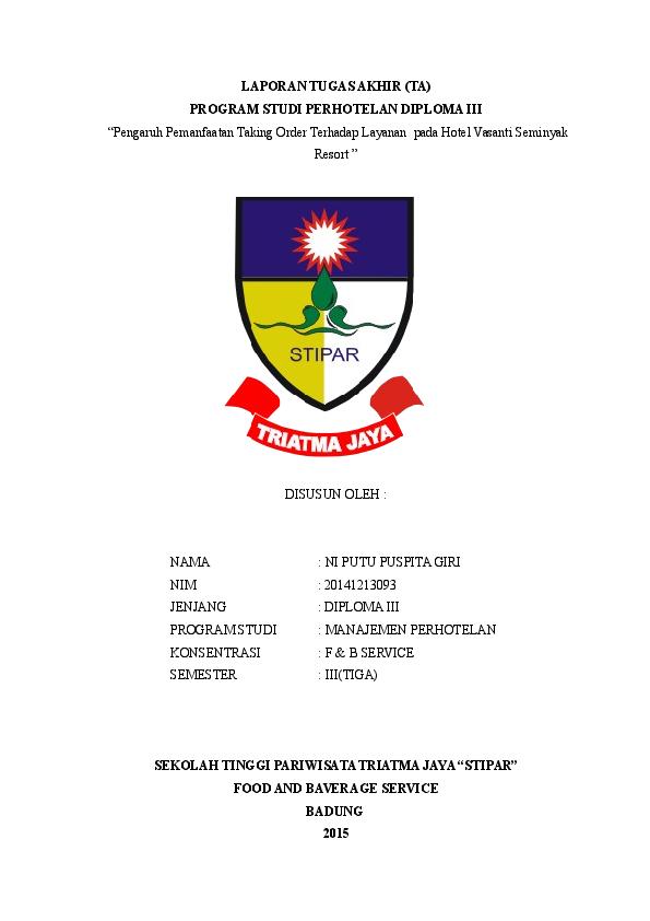Doc Laporan Tugas Akhir Puspita Giri Academia Edu