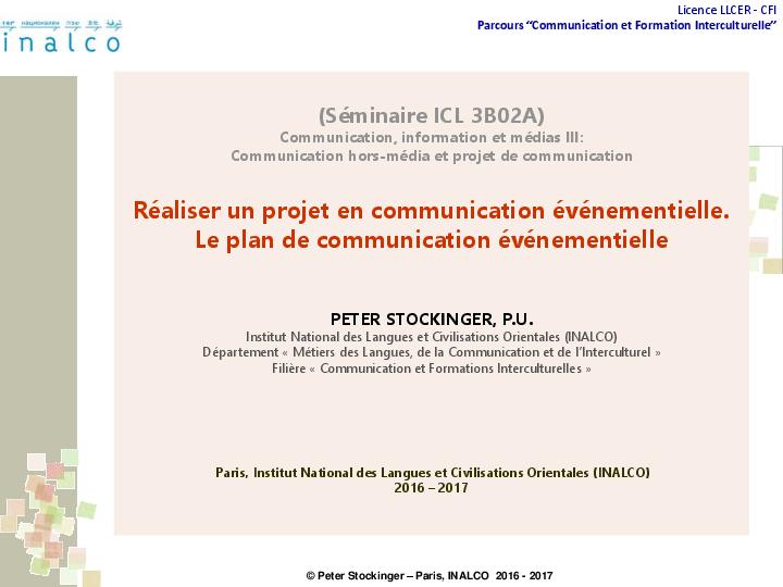 Pdf  R U00e9aliser Un Projet En Communication  U00e9v U00e9nementielle