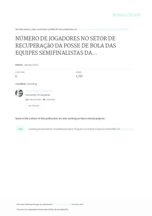 Número De Jogadores No Setor De Recuperação Da Posse De Bola Das ... 3a5c5f6ed21f1
