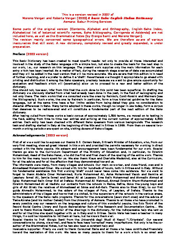 b83c089c1cae A basic Saho-English-Italian dictionary