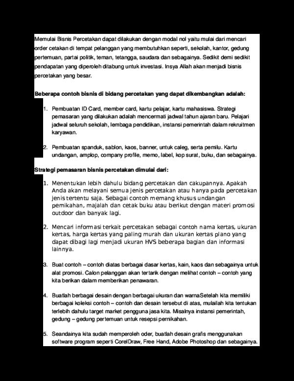 Doc Percetakan Zainal Aqli Academiaedu