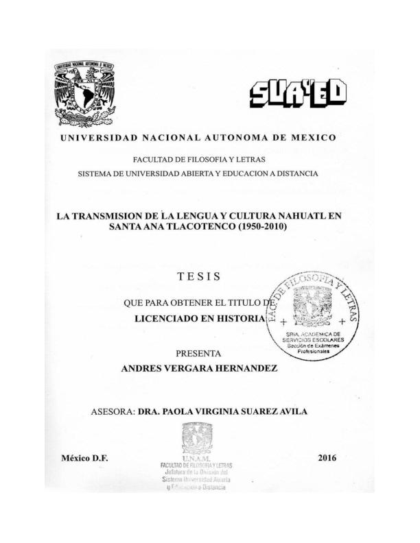d9340881ee PDF) La transmisión de la lengua y cultura náhuatl en Santa Ana ...