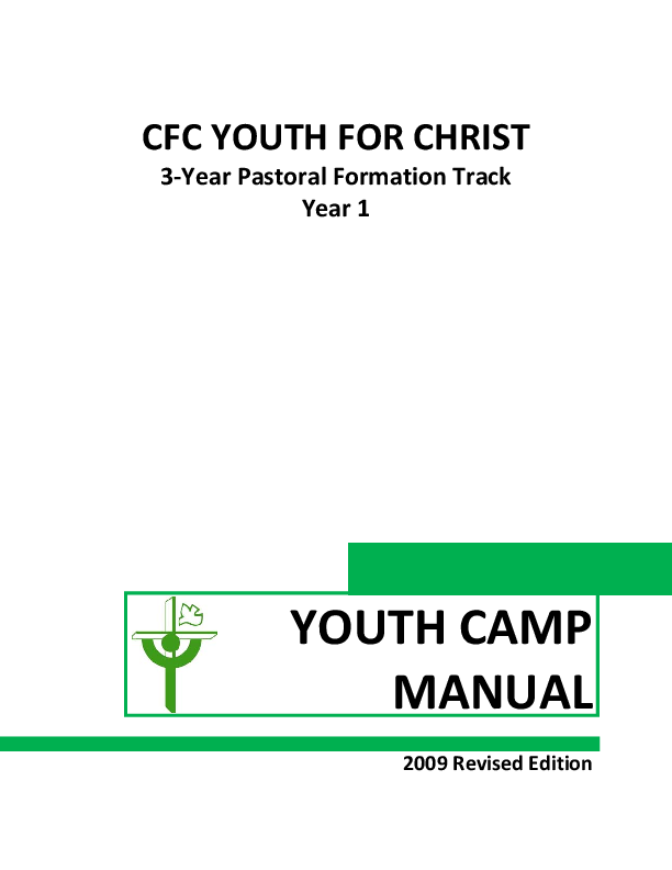 PDF) CFC YOUTH FOR CHRIST 3‐Year Pastoral Formation Track
