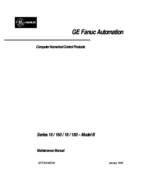 PDF) GE Fanuc Automation Computer Numerical Control Products