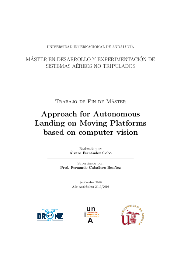PDF) Approach for Autonomous Landing on Moving Platforms based on