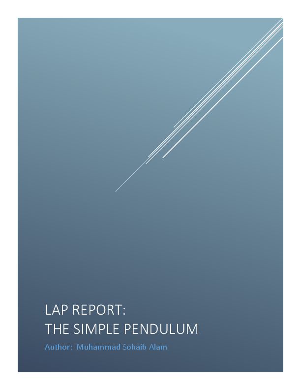 PDF) LAP REPORT: THE SIMPLE PENDULUM | kofi da ga - Academia edu