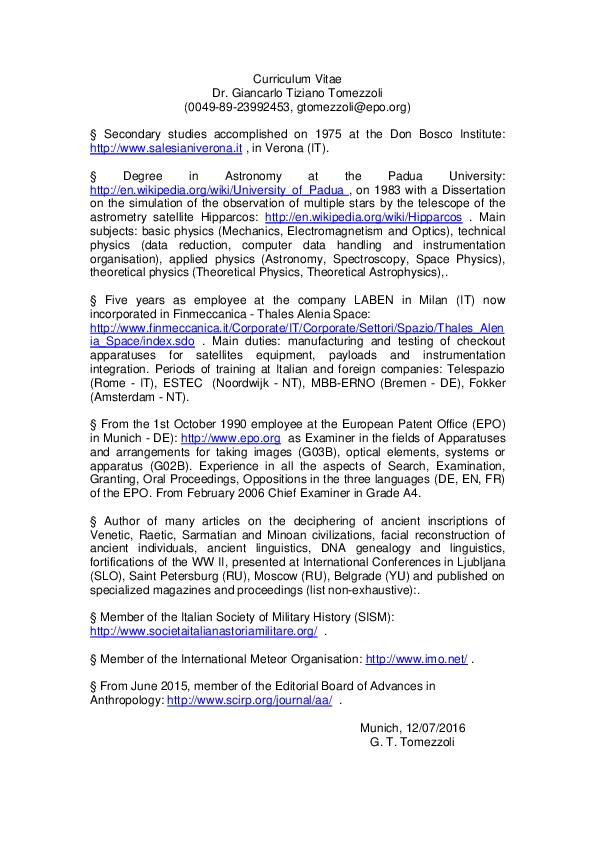 PDF) CV GT publications   giancarlo T tomezzoli - Academia edu