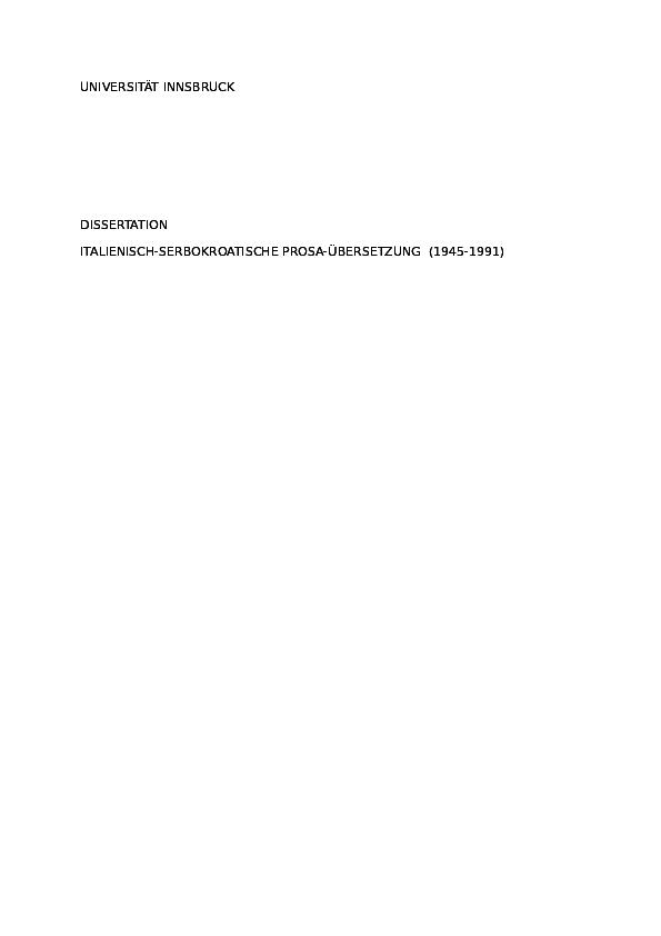 d6e65ab871c6 DOC)  TRADUZIONI DI PROSA ITALIANA IN SERBOCROATO vasic.doc