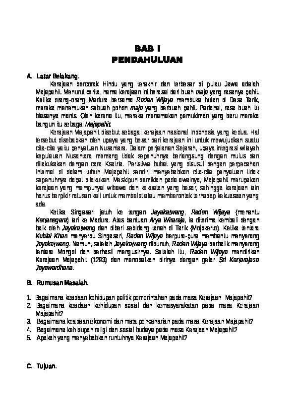 Doc Makalah Majapahit Docx Yulia Kartika Dewi Academia Edu