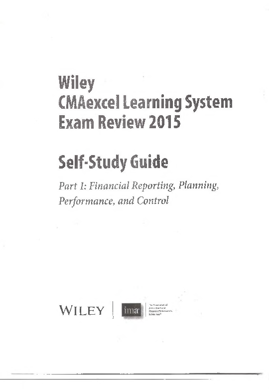 Wiley Cma Part 1 2015 Pdf