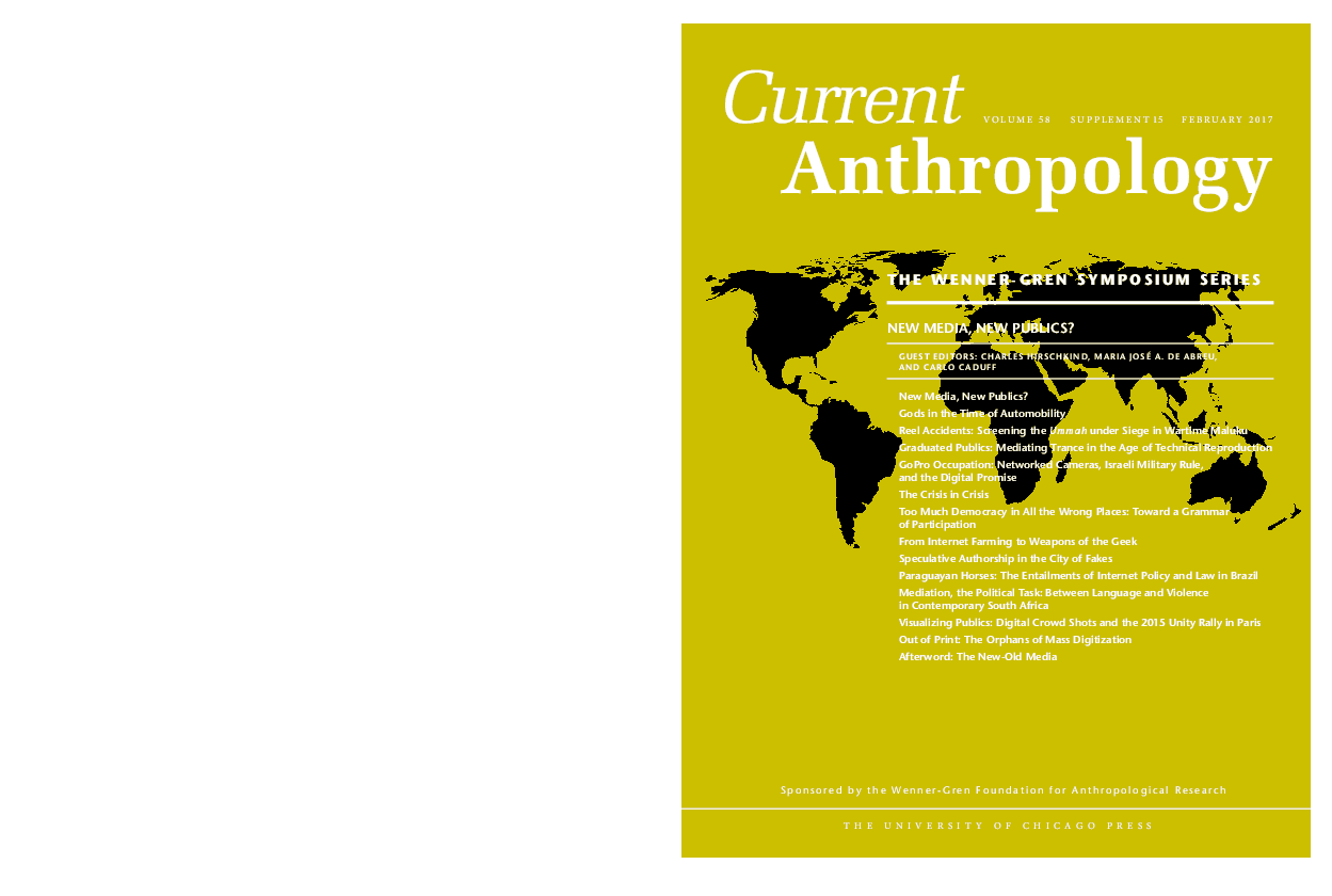 New Media Current Anthropology Special Issue Carlo Caduff