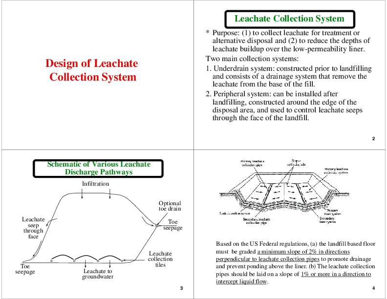 Pdf Design Of Leachate Collection System Engr Rao Academia Edu