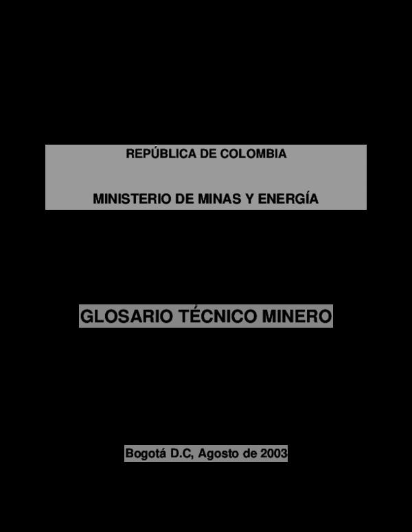 fffc237da7d8 PDF) GLOSARIO TÉCNICO MINERO
