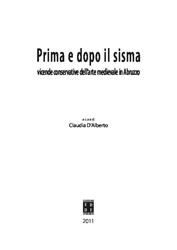 PDF) Prima e dopo il sisma. Vicende conservative dell arte medievale ... 5a473422686e