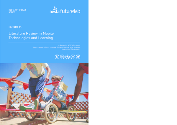 nesta futurelab report 11 literature review in mobile technologies and learning