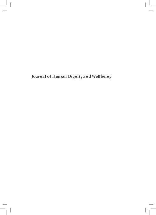 Pdf Journal Of Human Dignity And Wellbeing Justyna Modrzejewska