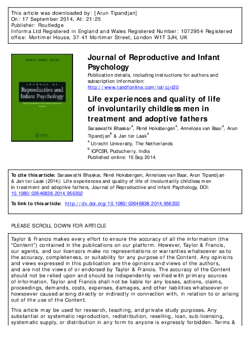 PDF) Life experiences and quality of life of involuntarily