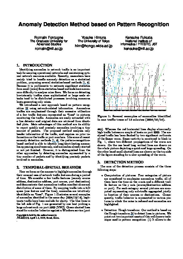 PDF) Evaluation of Anomaly Detection Method Based on Pattern