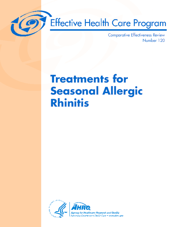 PDF) Treatments for Seasonal Allergic Rhinitis | Naomi