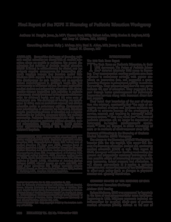 PDF) Final Report of the FOPE II Financing of Pediatric