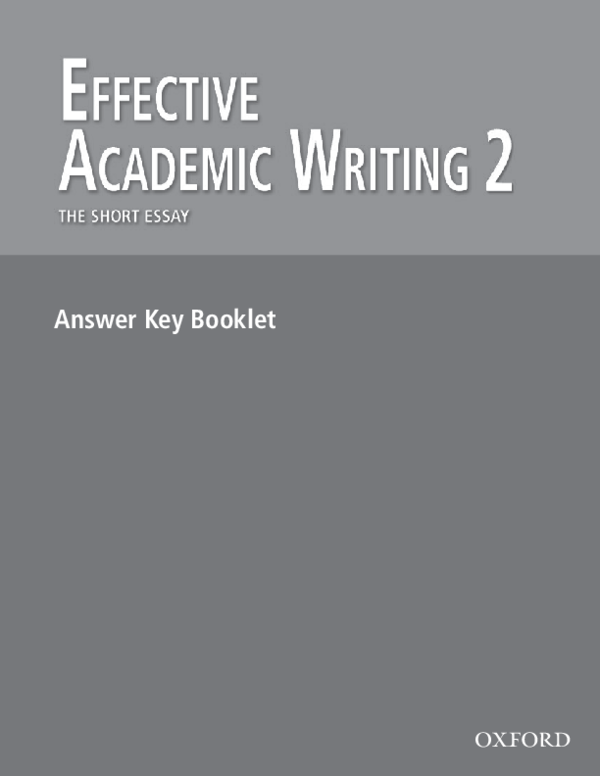 effective academic writing second edition pdf