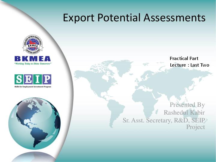 export potential assessments rashedul kabir academia edu rh academia edu