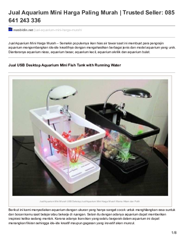 Pdf Jual Aquarium Mini Harga Paling Murah Trusted Seller 085 641 243 336 Masbidin Dotnet Academia Edu